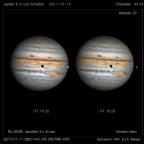 Jupiter & Io mit Schatten am 15.Oktober 2021