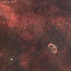 NGC 6888, Sichelnebel im Sternbild Schwan