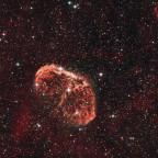 Objekt des Monats: NGC 6888 - Crescentnebel  (aus der Stadt)