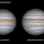 Jupiter - 5 min vs. 1h Derotation