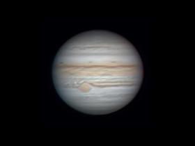 Jupiter mit C8 am 01.09.2021 gegen 22.43Uhr vom Balkon