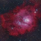 M8 aus Daten von 2014, 2017 und 2021 mit unterschiedl. Teleskopen