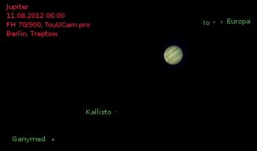 Jupiter through telescope bresser skylux el youtube