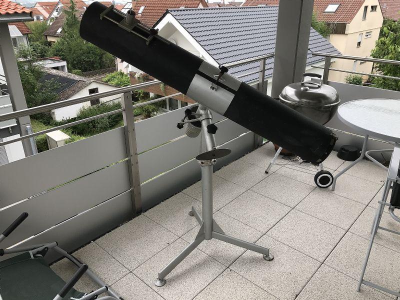 Astrotreff astronomie treffpunkt uralter eigenbau montierung